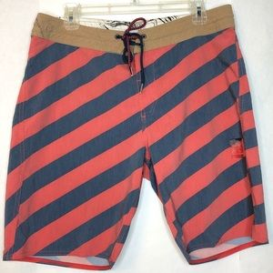 Volcom Slingers Patriotic Striped Board Shorts 32
